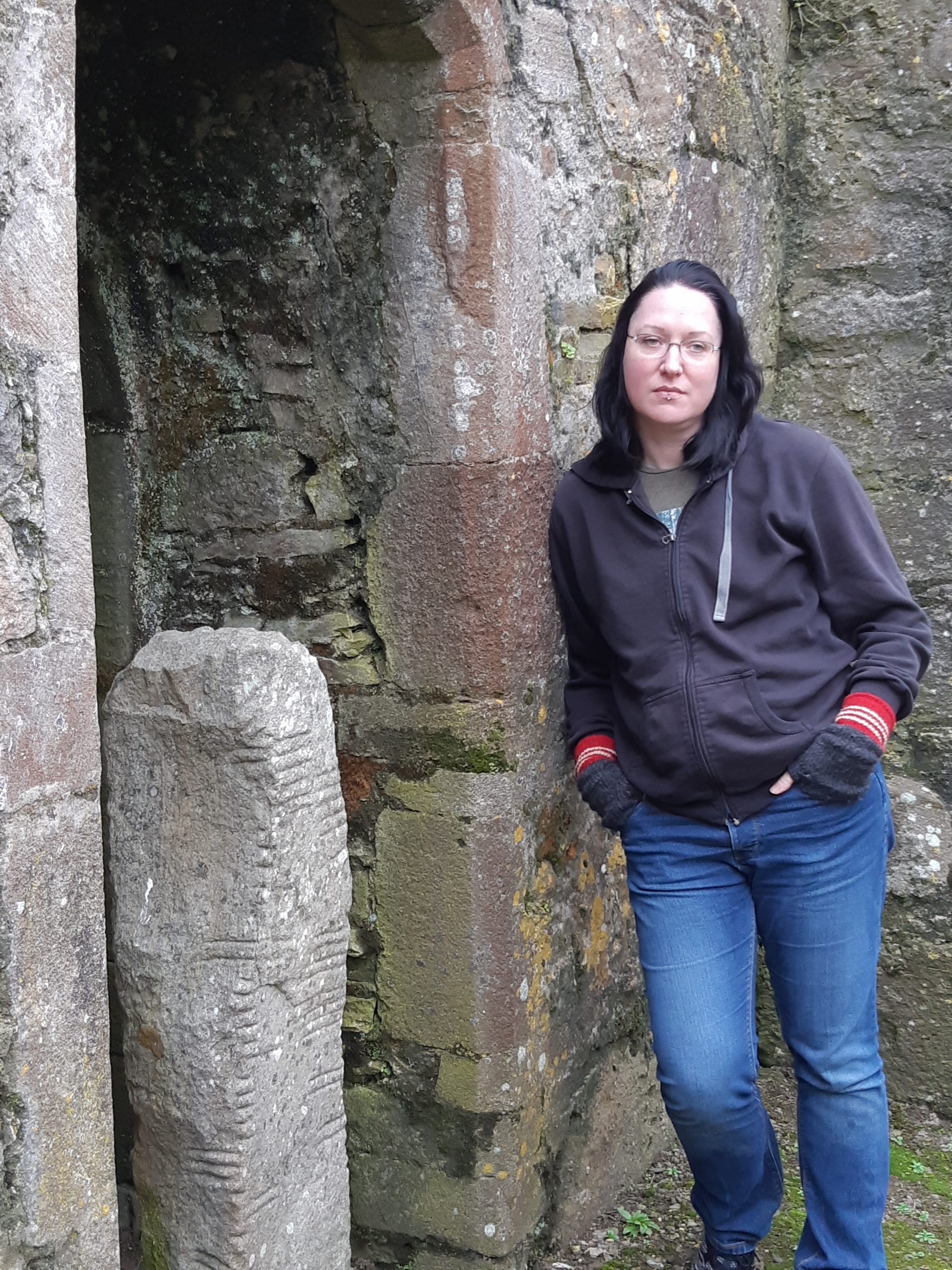 Lora O'Brien Ogham Stone - Irish Author and Guide