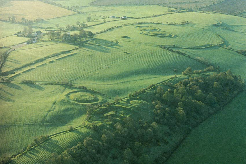 Hill of Tara Aerial Wide Angle