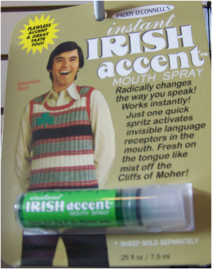 This is NOT how you get an Irish Accent