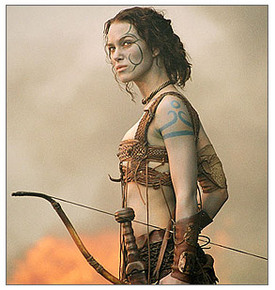 Kiera Knightley as a Woad