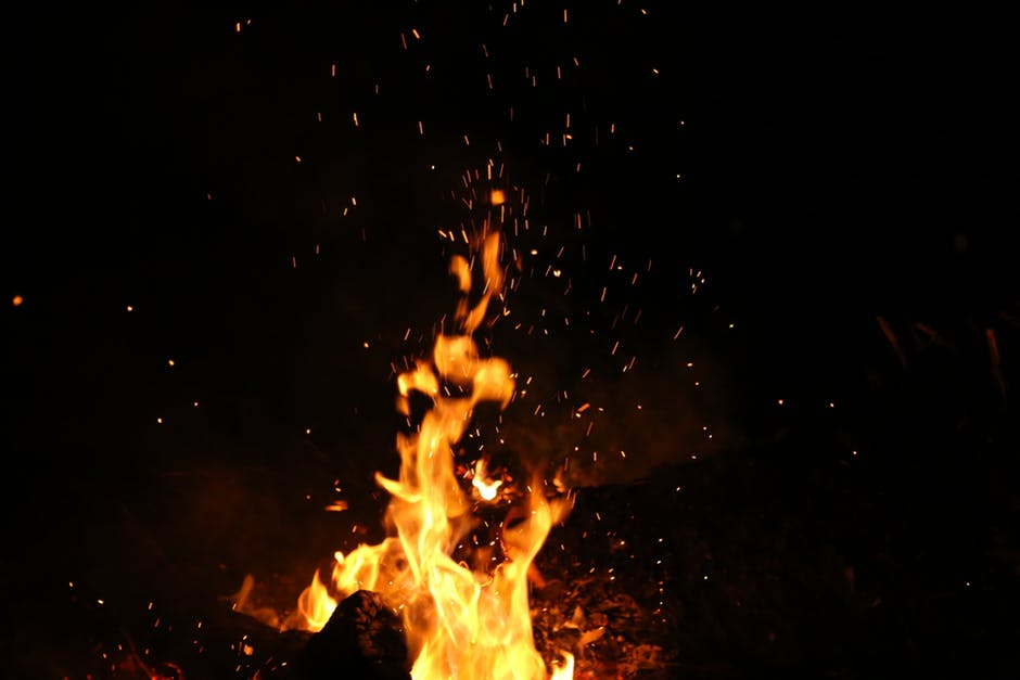 Winter Solstice in Ireland - Bonfire Sparks