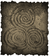 triple spiral in stone square