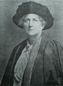 Portrait of Aleen Cust, Ireland's first female veterinarian