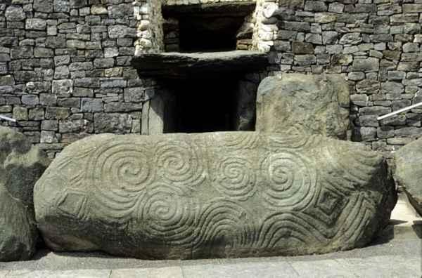 Irish Pagan Symbols on Newgrange Passage Tomb, © 2010 Dept. Environment, Heritage & Local Government.