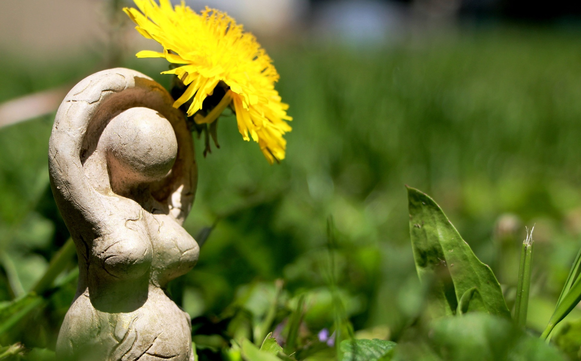 Irish Pagan Beliefs - Goddess with a Dandelion